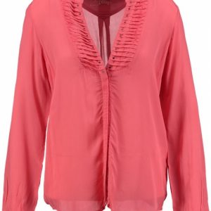 10 feet glanzende viscose tuniek blouse L roze