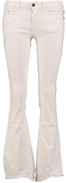 10 feet off white bootcut jeans met destroyed plekken W24 creme