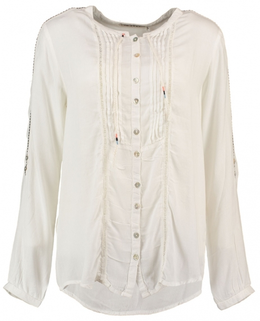 10 feet off white viscose blouse L creme