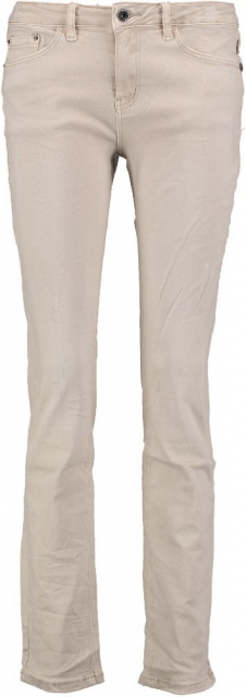 10 feet stretch skinny met destroyed plekken W32 beige