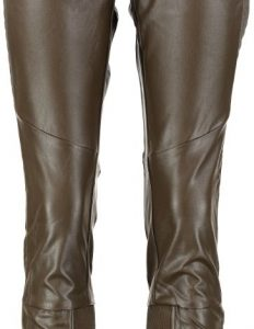 10 feet tapered leerlook katoen mix broek army S army
