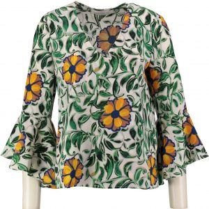 Anonyme zachte polyester blouse 3/4 mouw S multicolor