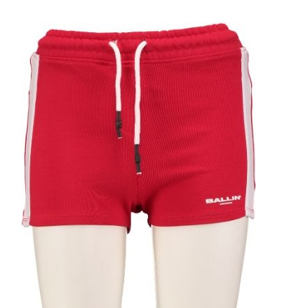 Ballin by pure white rood slim fit sweatshort S rood