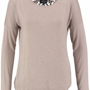 Broadway longsleeve kant op rug light taupe M beige
