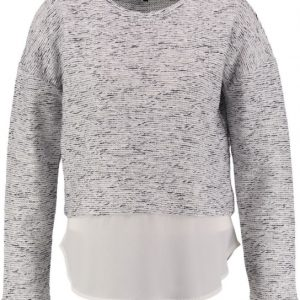 Broadway snow white sweater met blouse laag S multicolor