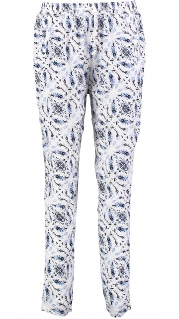 Broadway soepele relaxed tapered print broek L multicolor