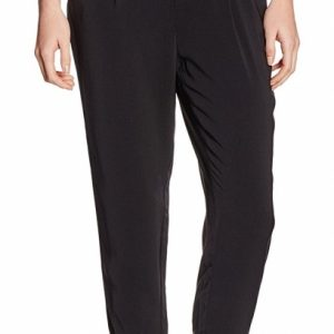Broadway soepele zwarte loose tapered ankle pantalon S zwart