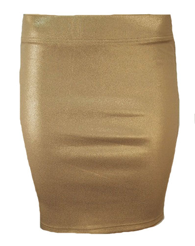 Broadway stevig stretch rokje champagne gold XS/S beige