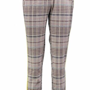 Garcia stevige zachte relaxed fit enkel broek polyester viscose stretch XL multicolor