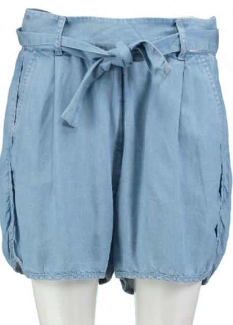 Guess soepel lyocell denim short loose fit W26 blauw