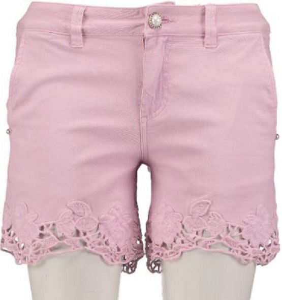 Guess soepel roze stretch denim short W29 roze