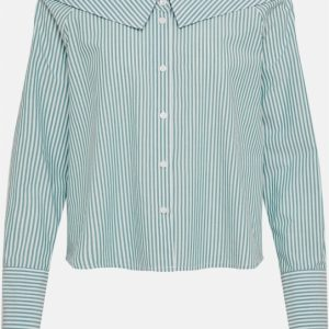Only boxy blouse groen bright white 42 multicolor