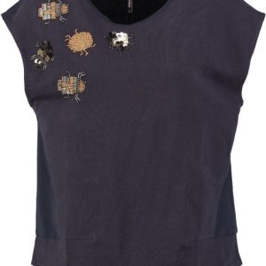 Only donkerblauwe sweat polyester top XS blauw