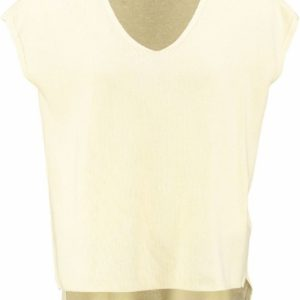 Only stevige texture trui top mellow yellow L geel