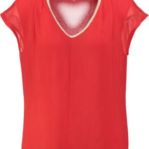 Signe nature 2 laags polyester blouse shirt top - rood 38 rood