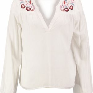 Vero moda viscose snow white blouse met borduringen M multicolor